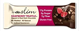 NuGO Slim Raspberry Truffle, 1.59-Ounce (Pack of 12)