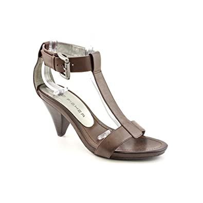Marc Fisher Waverish Womens Size 8.5 Brown Open Toe Leather Strappy Shoes