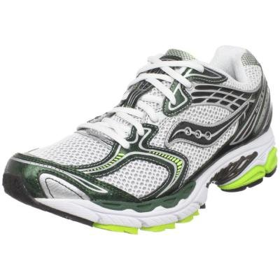 Saucony Men's ProGrid Guide 3 Running Shoe,White/Green/Black,13 M US