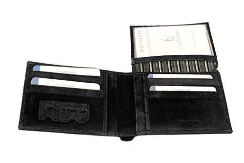 Portafoglio uomo LUIGI BENETTON nero in pelle porta carte di credito A4450
