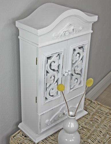 kommode schrank wandschrank wei antik holz neu wandregal k chenregal ean 0783583777544. Black Bedroom Furniture Sets. Home Design Ideas
