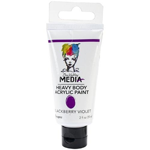 Ranger Dina Wakley Media Heavy Body Acrylic Paint, 2-Ounce, Blackberry Violet 2 Ounce Blackberry
