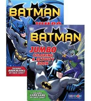 Batman Jumbo Coloring & Activity Book 96 (2 Piece/Pack) - 16502FS - 1