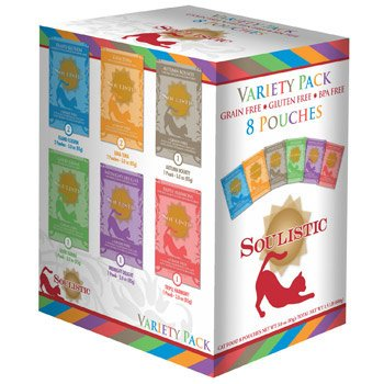 Soulistic Variety Pack Adult Cat Food Pouches, 3 oz., Case o