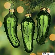 (12) One Dozen Hand Blown Glass Pickl…