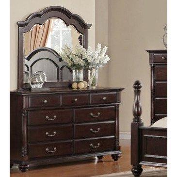 Homelegance Townsford 9 Drawer Dresser w/ Mirror in Dark Cherry