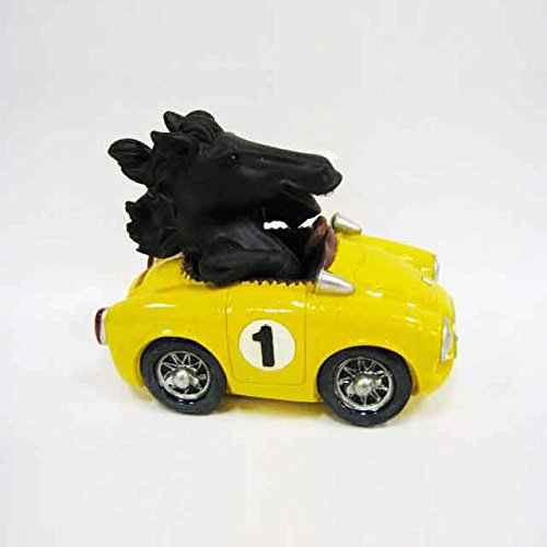 Joyriding Horse in Yellow Car Coin Bank