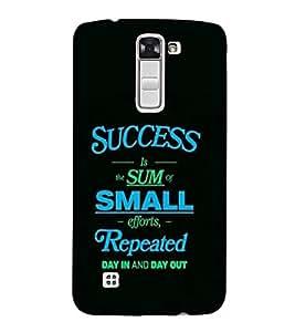 PrintVisa Quotes & Messages Success 3D Hard Polycarbonate Designer Back Case Cover for LG K10