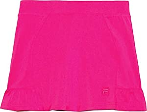 Fila Girls' Peplum Skort,Pink Glo,US L