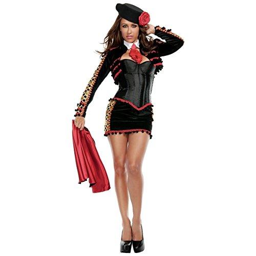 GSG Sexy Matador Costume Adult Womens Bullfighter Halloween Fancy Dress (Sexy Mexican Costumes)