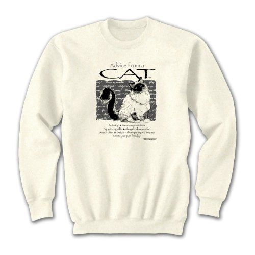 Advice From A Cat ~ Natural Sweatshirt