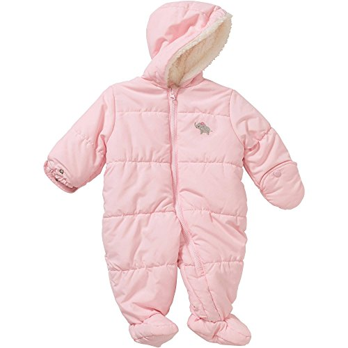 Child of Mine by Carters Baby Pram Boy and Girls Sizes (0-3 Months, Girl Hooded Puffer Pink)