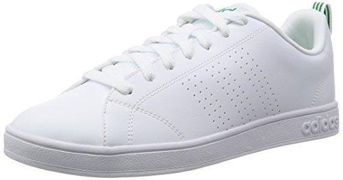Adidas Advantage Clean Vs, Scarpe da Ginnastica Basse Uomo, Bianco (Ftwr White/Ftwr White/Green), 46 EU
