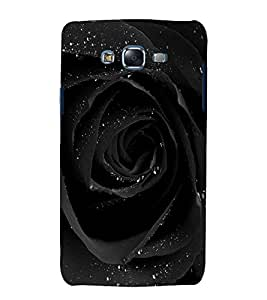 printtech Nature Black Rose Back Case Cover for Samsung Galaxy J7 / Samsung Galaxy J7 J700F