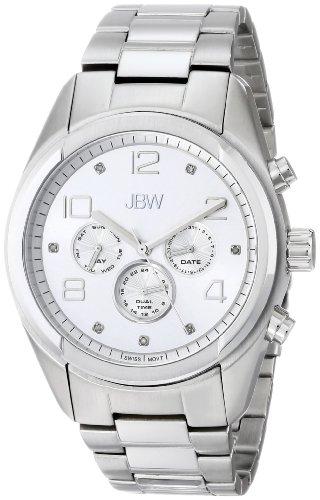 JBW  J6291A - Reloj de cuarzo para hombre, con correa de acero inoxidable, color plateado