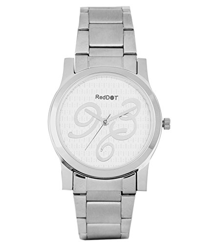 Red Dot Silver Analog Watch For Women(RD-AA)