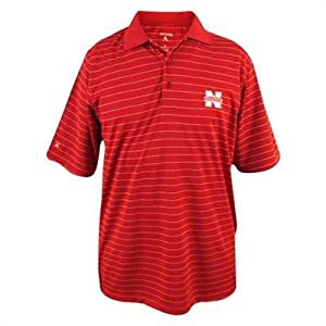 Nebraska Cornhuskers Elevate Polo Red from Antigua by Antigua
