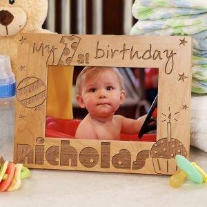 Amazon Com Baby Boy S 1st Birthday Wood Picture Frame