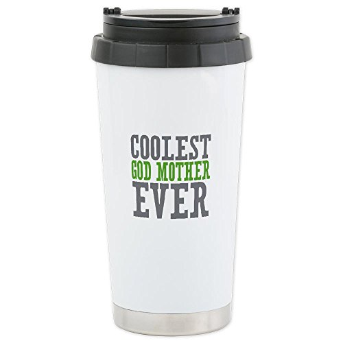 Cafepress Coolest God Mother Ceramic Travel Mug - Standard Multi-Color