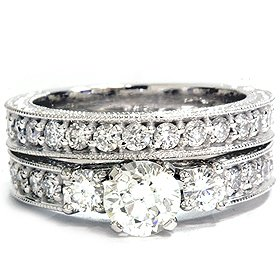 1.50CT Vintage Diamond Engagement Wedding Ring