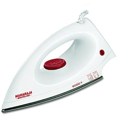 Maharaja Whiteline Easio Plus 1000-Watt Dry Iron (White and Red)