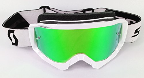 Goggle-Shop Chrome Mirror Lens to fit Scott Hustle Motocross MX Goggles (Monster Green Mirror)