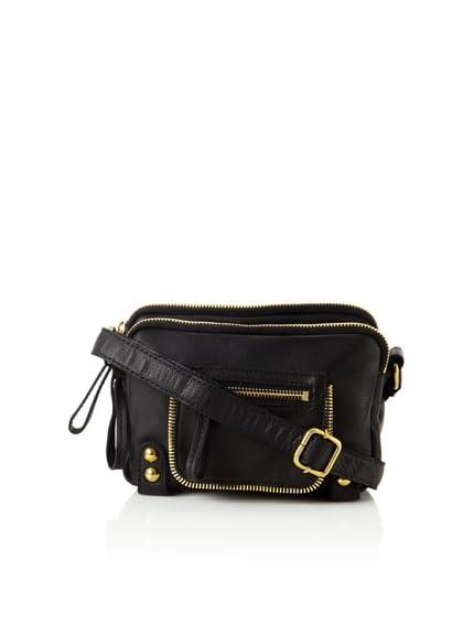 Linea Pelle Dylan Triple Zip Shoulder Bag In Sand 22