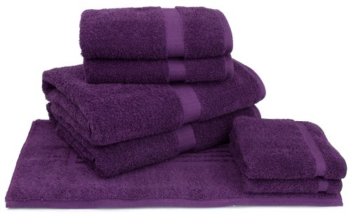 Cambridge Perennial 7-Piece Bath Towel Set, Eggplant