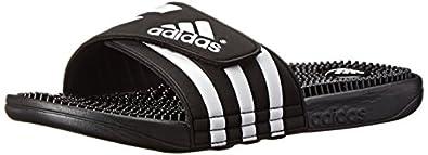 adidas Performance Men's Adissage Slide Sandal, Black/White, 4 M US