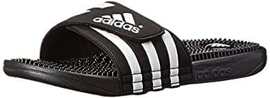 adidas Originals Men's Adissage Sandal, Black/Black/White, 3 M US