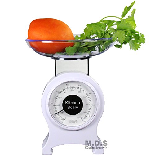 Kitchen Scale Retro Mechanical Dial 0-2lb Food Scale Diet Portable measuring scale