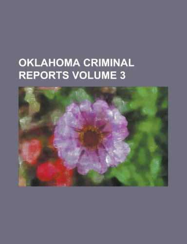 Oklahoma criminal reports Volume 3