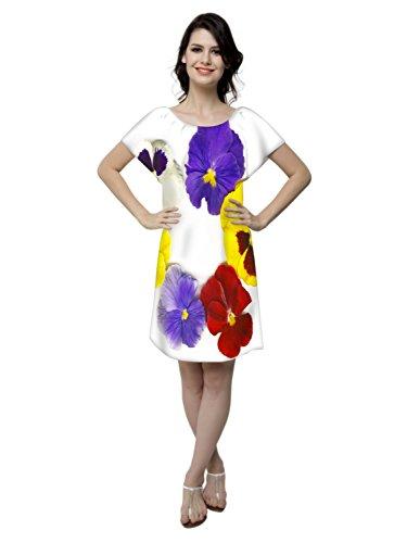 Snoogg -  Camicia da notte  - Collo a U  - Maniche corte  - Donna multicolore Medium