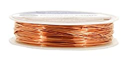 Mandala Crafts® Extra Long Colored Craft Jewelry Making Copper Wire (22 Gauge(28 Meters), Copper)