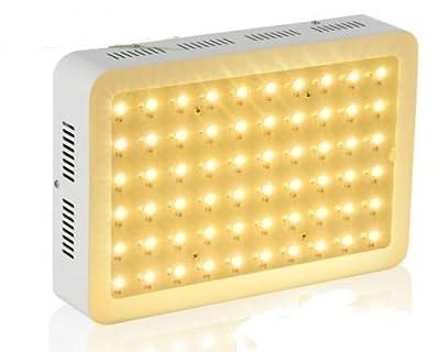 PopularGrow Upgrade Full Spectrum 300W LED Grow Light 60*5W For Veg Fruit Flower