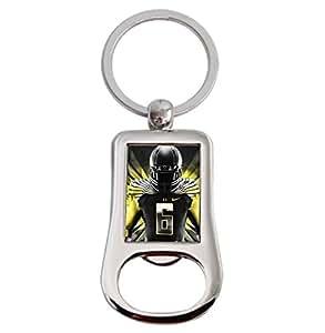 oregon ducks key chains key rings personalized custom sliver custom bottle opener. Black Bedroom Furniture Sets. Home Design Ideas