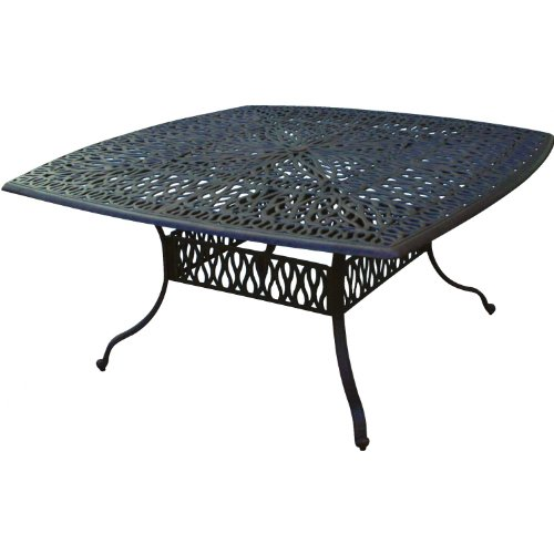 Darlee elisabeth cast aluminum patio dining table for Metal patio tables sale