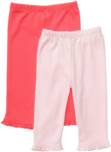 Carter'S Baby Girls' 2-Pack Pants - Pink/Poppy - Preemie front-645520