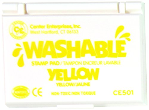 Center Enterprise CE501 Washable Stamp Pads, Yellow