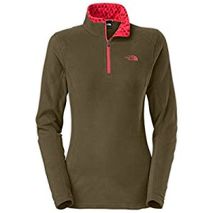 The North Face Glacier 1/4 Zip Fleece Women's New Taupe Green XS
