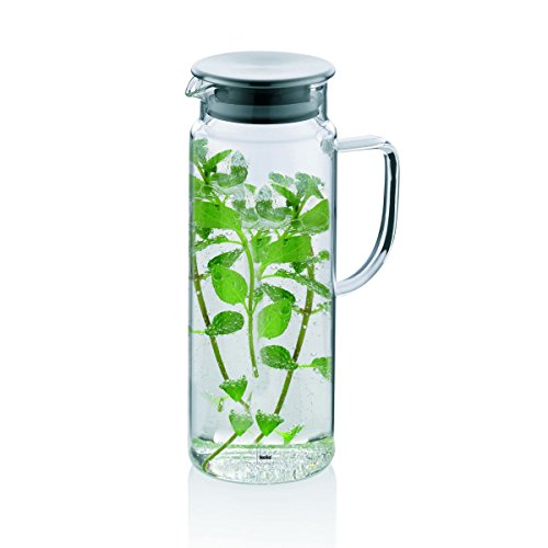 kela-pitcher-11398-brocca-in-vetro-per-succhi-con-coperchio-in-acciaio-inox-16-l-diametro-95-cm-alte