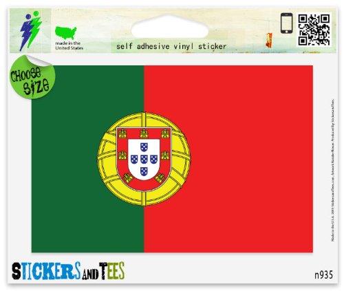 Portugal Portuguese Flag Vinyl Car Bumper Window Sticker 3