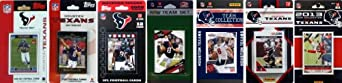 NFL Houston Texans 6 Different Licensed Trading Card Team Sets by C&I Collectables