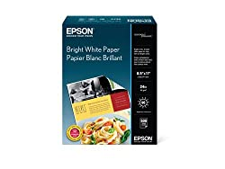 Epson Bright White Paper (8.5x11 Inches, 500 Sheets) (S041586)