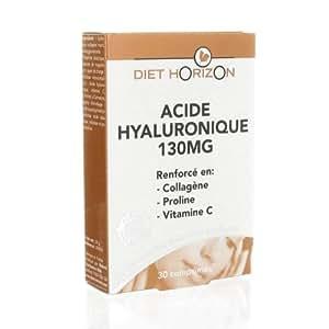 Diet horizon - Acide hyaluronique 130 mg - 30 comprimés - Pour une peau lissée, repulpée et les ride