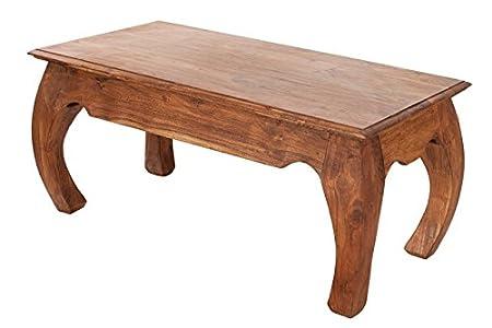 DuNord Design Couchtisch Beistelltisch OPIUM Akazie Massiv Massivholz Holztisch 100x50cm