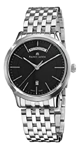 Maurice Lacroix Men's LC1007-SS002330 Les Classiques Quartz Black Day Date Dial Watch