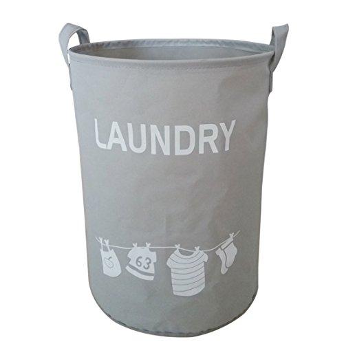 Hoomall Panier à Linge Sale en Tissu Imperméable Rangement et Organisation Amovible pr Laundry Buanderie Gris