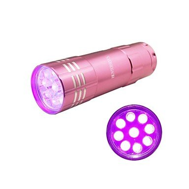 Mch-Hunterseyes ? 9 Leds Uv 395-405Nm Uv Flashlight Pink