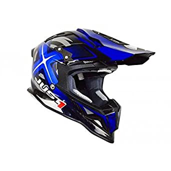 Casque just1 j12 mister x carbone bleu/carbone xs - Just1 JU001162